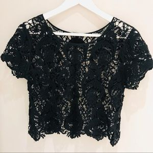 Tops - Crochet Crop Top Size XS